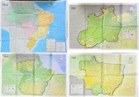 IBCE 官製ブラジル全土、アマゾニア州、パラ州・アマパ州、マットグロッソ州地図 4枚セット